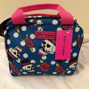 Betsey Johnson Skull and Rose Insulated Tote